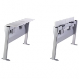 Press station MP2006 with folding desk - dimensionally complying with FIFA UEFA FIBA