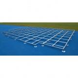 High jump modular grid platform with cart for landing area SW-6x4