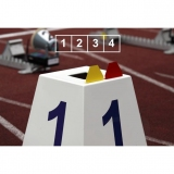 Competition lane markers set for athletics track events LM-45/4