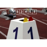 Competition lane markers set for athletics track events LM-45/6