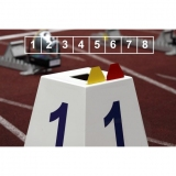 Competition lane markers set for athletics track events LM-45/8