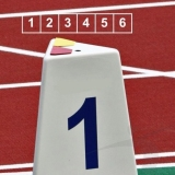 Competition lane markers set for athletics track events LM-60/6