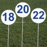 Competition set of 14 round markers for throwing athletic events DM70-14-S0321