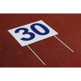 Competition rectangular marker with two pins for throwing athletic events DM80-S0322