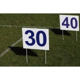 Competition set of 14 rectangular markers for throwing athletic events DM80/14-S0322