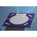 Shot put portable throwing circle with toe board SP0319 - IAAF approved