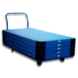 Mat trolley for transporting gym mats
