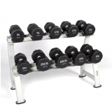 DUMBELLS PRO-STYLE RACK for fitness and weightlifting