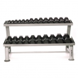 Dumbbells horizontal rack