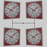 Training clocks synchronized systems 4-fold for swim training