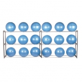 Fitness ball compact rack