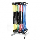 Elastic tubes/ropes rack