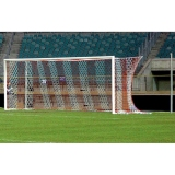 Soccer goals, with aluminium cast corner joints and Free hanging net 7.32x2.44 m - FIFA approved