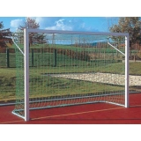Soccer goals for Juniors and small pitch goals; For insertion into ground sockets, with aluminium cast corner joints, 5x2m and 3x2m
