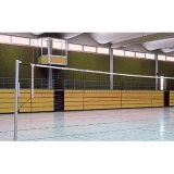 Volleyball posts Standard with pulley tensioning device - acc. to EN 1271