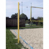 Beach volleyball competition unit with pulley tensioning device - acc. to EN 1271