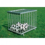 Ball trolley with lockable pump compartment
