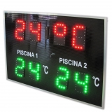 DIGITAL CLOCK-THERMOMETER FOR POOL