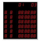 Scoreboard for Swimming - 6 lines