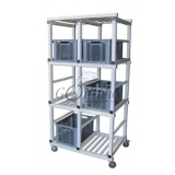 Storage sports SHELF FOR 6  BASKETS, PVC