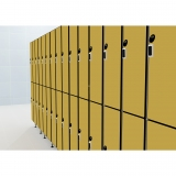LOCKERS 12/8 - 40MM COMPACT LAMINATE/ALUMINUM for gyms, swimmings pools and wellness areas