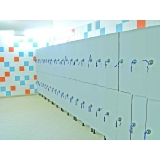 LOCKERS 10/8 - 40MM COMPACT LAMINATE/ALUMINUM for gyms, swimmings pools and wellness areas