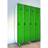 LOCKERS 10/8 - STANDARD NP 1116 TYPE A COMPACT LAMINATE-ALUMINUM for gyms, swimmings pools and wellness areas