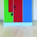 LOCKERS ACCESSORIES - SKIRTING BOARD FOR LOCKERS for gyms, swimmings pools and wellness areas