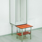 LOCKERS ACCESSORIES - BASE FOR LOCKER WITH BENCH for gyms, swimmings pools and wellness areas