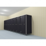 CABINS 12MM ALUMINUM for gyms, swimmings pools and wellness areas