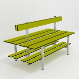 Benches DOUBLE BENCH 3 FUNCTION for gyms, swimmings pools and wellness areas