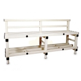 Benches PVC with back support - 150X40X77CM for gyms, swimmings pools and wellness areas