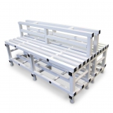 Benches DOUBLE PVC with back - for gyms, swimmings pools and wellness areas