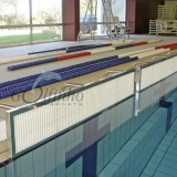 TURNING PANEL for swimming - LANE WIDTH 2,5M (4 SUPPORTS)