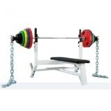 Power Bench with Power Sets for fitness and weightlifting