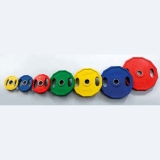 Discs colour rubber with grips and stainless steel bushing - for fitness and weightlifting