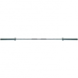 Bar, Economy, length 220 cm, weight 20 kg, chrome, suitable for bench presses up to 120 kg. - for fitness and weightlifting
