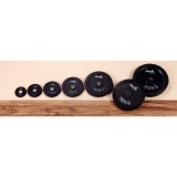 Dumbbell discs rubber for 30 mm bars - for fitness and weightlifting