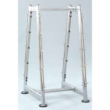 Barbell rack, grey - for fitness and weightlifting