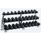 Dumbbell rack 3 x 2,40 m and 3 bases - for fitness and weightlifting