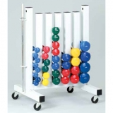 Dumbbell rack with white lacquer finish (with dumbbells) - for fitness and aerobic