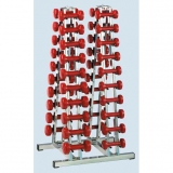 Dumbbell double rack, with 40 pc. 1 kg aerobic dumbbells - for fitness and aerobic