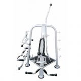 Lat bars rack, grey - for fitness and weightlifting