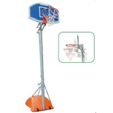 Basketball and mini-basket unit, portable