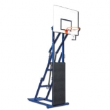 Basketball and mini-basket unit, foldable and portable