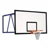 Wall mounted basketball backstop
