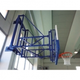 Basketball backboards, wall mounted, side folding - FIBA approved for 2nd and 3rd level competitions