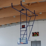 Basketball backboards, roof mounted, folding - FIBA approved for 2nd and 3rd level competitions