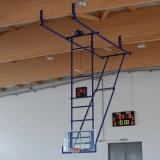 Roof mounted basketball backstop Top. FIBA certificate.