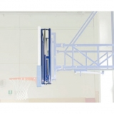 Basketball backboards, wall or roof mounted - pair of mechanical devices for adjusting backboards height